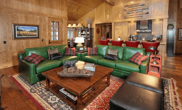 Trang trí phòng khách độc đáo với bộ sofa màu xanh tươi mát - Nội thất bổ xung