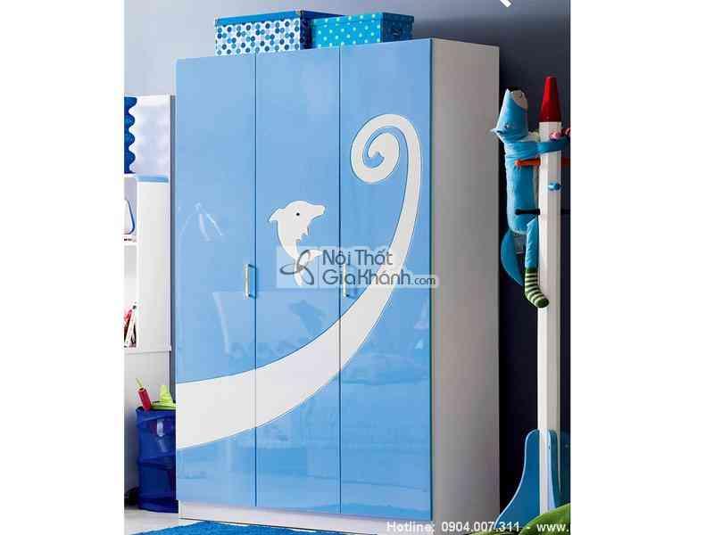 Tủ áo cá heo đại dương xanh H602-5