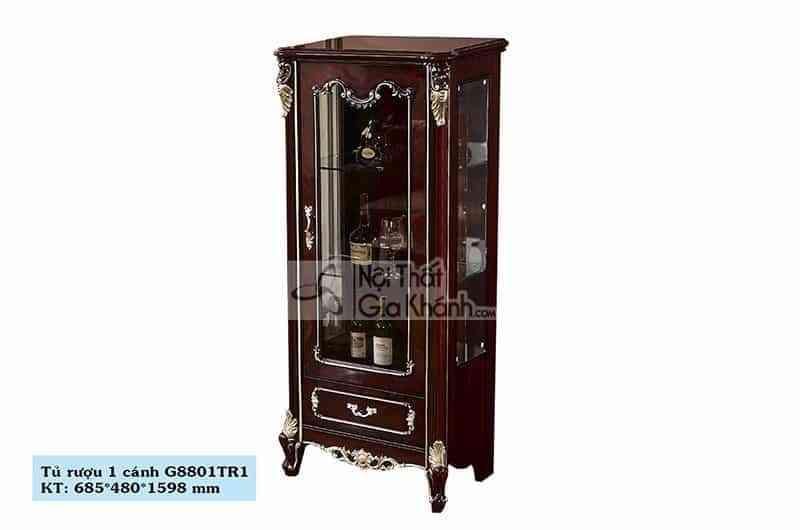 Tủ rượu gỗ nội thất phòng khách đẹp TR8801G-1