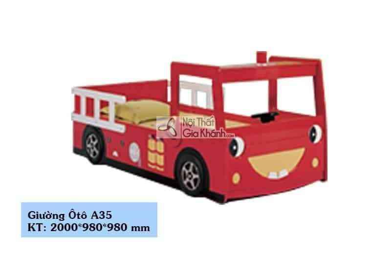 Giường xe cứu hỏa 1 tầng cho bé A35
