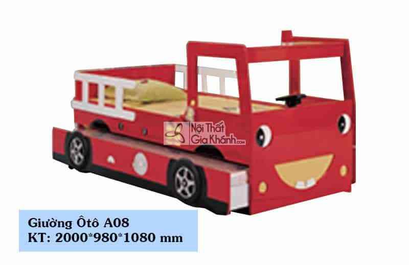 Giường xe cứu hỏa 2 tầng cho bé A08