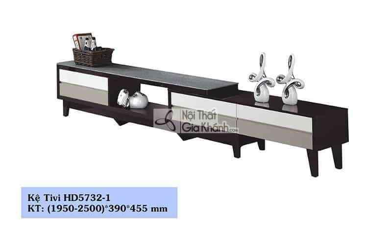 Kệ ti vi đa năng mặt kính giả đá phong cách hiện đại HC5732-1