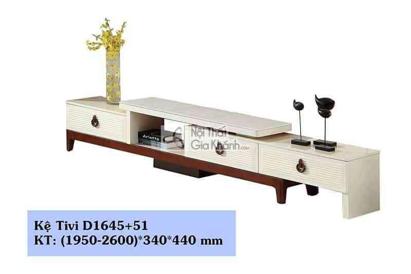 Kệ tivi đa năng hiện đại gỗ công nghiệp mặt kính cường lực D1645+51
