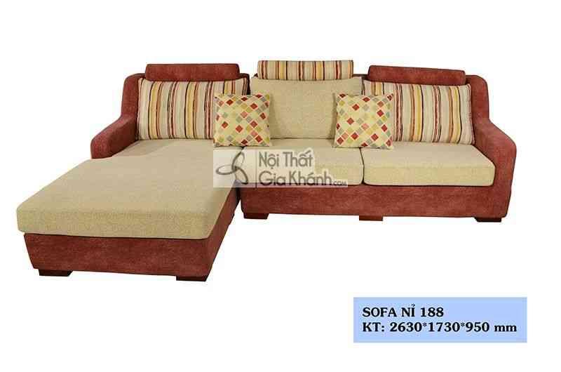 Sofa Nỉ Đẹp Cho Phòng Khách Nhỏ 188Sf2Gp
