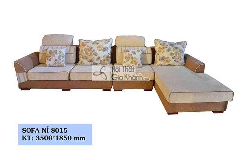 Sofa Nỉ Nhập Khẩu Tân Cổ Điển 3 Băng Góc Trái Cho Phòng Khách 8015Sf3Gt