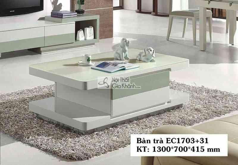 EC1703EC17031 - Bàn trà (Bàn Sofa) gỗ phòng khách hiện đại mặt kính EC1703+31