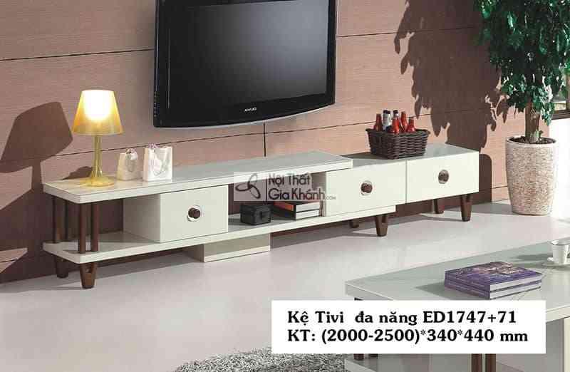 Kệ tivi đa năng hiện đại gỗ công nghiệp mặt kính cường lực ED1747+71