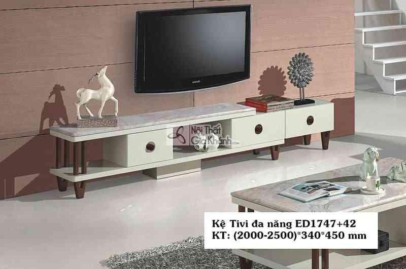 Kệ tivi acrylic đa năng hiện đại gỗ công nghiệp mặt đá ED1747+72