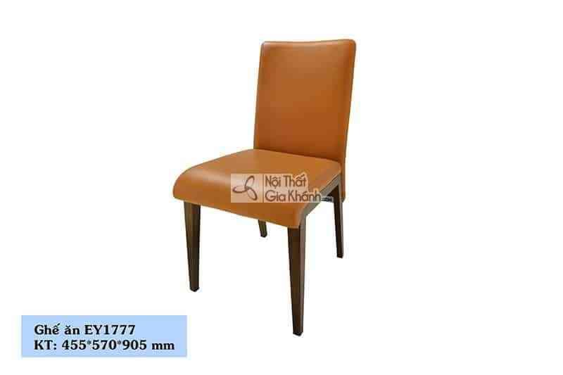 EY1777 - Ghế học chân gỗ bọc da màu vàng độc đáo EY1777