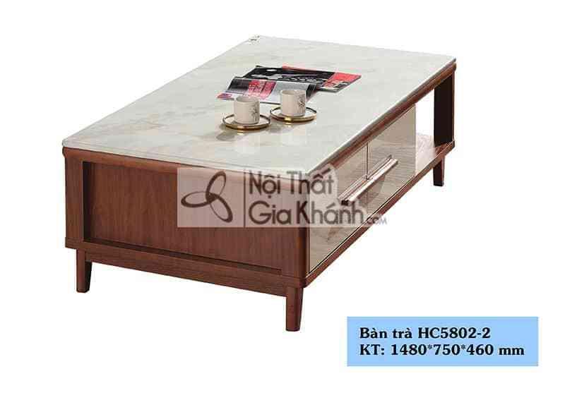 Bàn trà (Bàn Sofa) hiện đại mặt đá nhập khẩu Trung Quốc HC5802-2