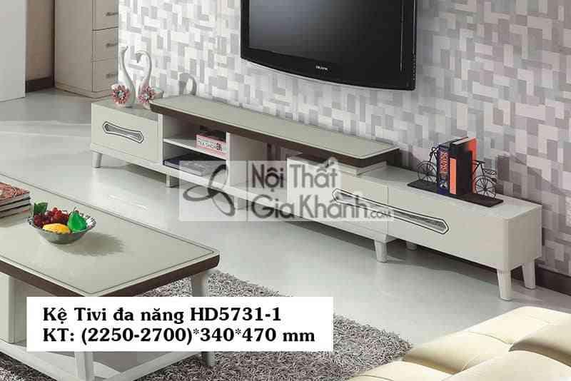 Kệ để tivi 55 inch đa năng gỗ công nghiệp mặt kính cường lực HD5731-1