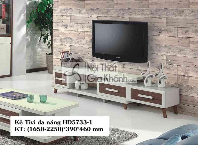 Kệ tivi đa năng hiện đại gỗ công nghiệp mặt kính cường lực HD5733-1