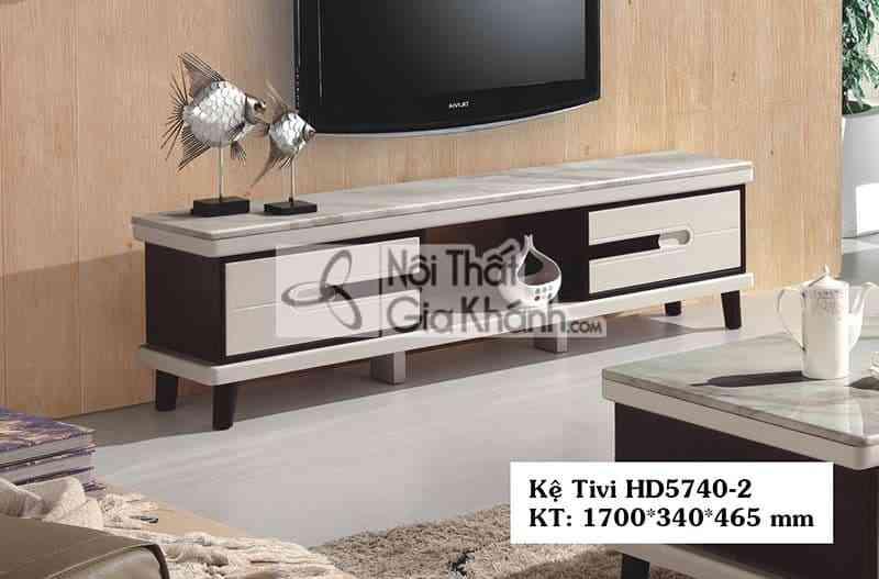 Kệ tivi hiện đại phòng khách 1m7 gỗ công nghiệp mặt đá HD5740-2