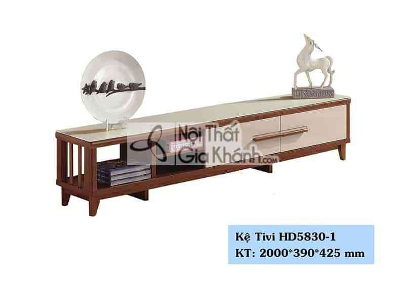 Kệ tivi phòng khách hiện đại gỗ công nghiệp mặt kính cường lựcHD5830-1