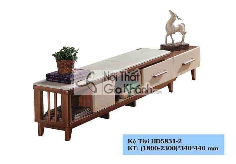 HD5831 2. - Kệ tivi gỗ công nghiệp đa năng hiện đại mặt đá màu trắng HD5831-2