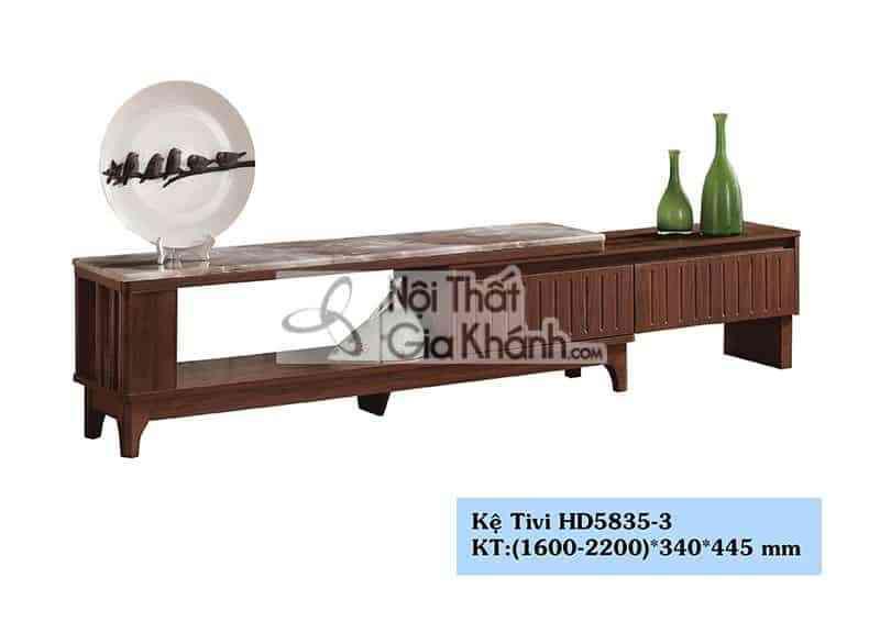 Kệ tivi gỗ công nghiệp hiện đại mặt đá cao cấp từ Trung Quốc HD5835-3