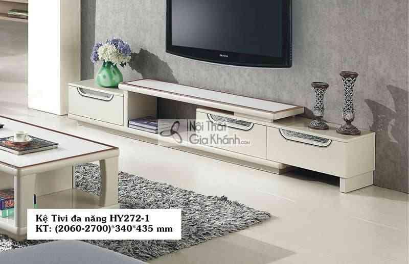 Kệ tivi 50 inch hiện đại gỗ công nghiệp mặt kính cường lực HY272-1 - HY272 1
