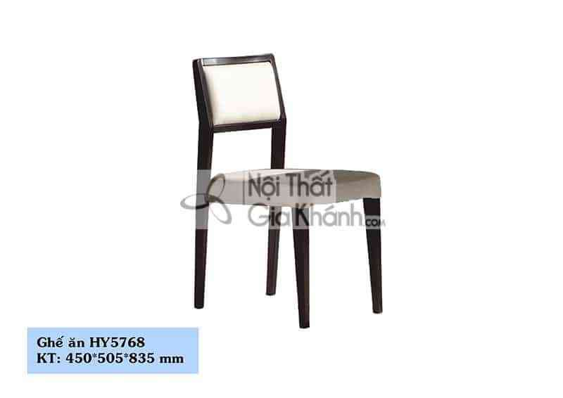 Ghế ăn bọc da chân gỗ màu đen cao cấp HY5768