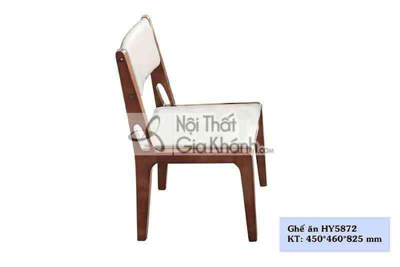 Ghế ăn gỗ bọc da nhập khẩu cao cấp HY5872