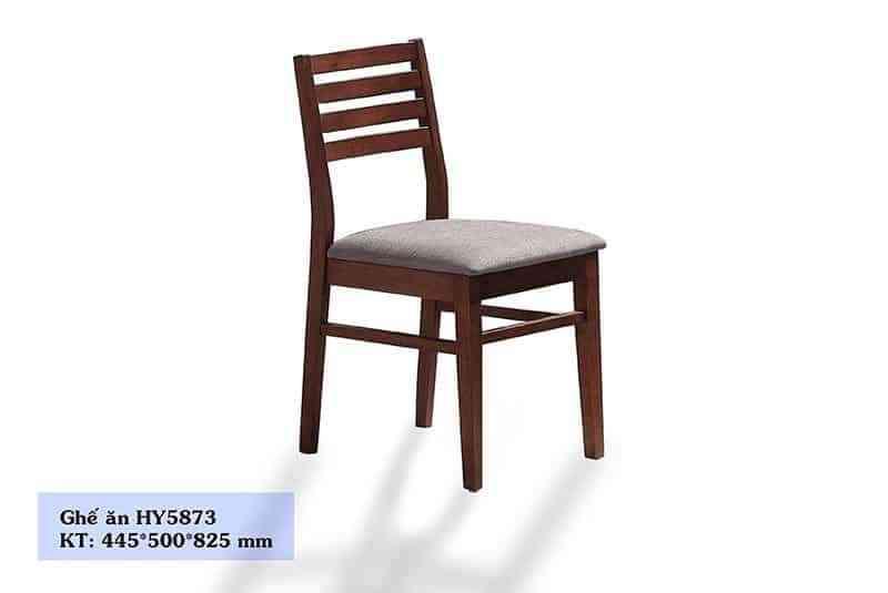 HY5873 - Ghế ăn màu nâu gỗ bọc da nhập khẩu cao cấp HY5873