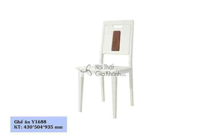 Ghế ăn gỗ màu trắng nhập khẩu Y1688