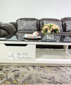 Bàn Trà (Bàn Sofa) Mặt Kính Đen Giá Rẻ Cho Phòng Khách Hc5719-1