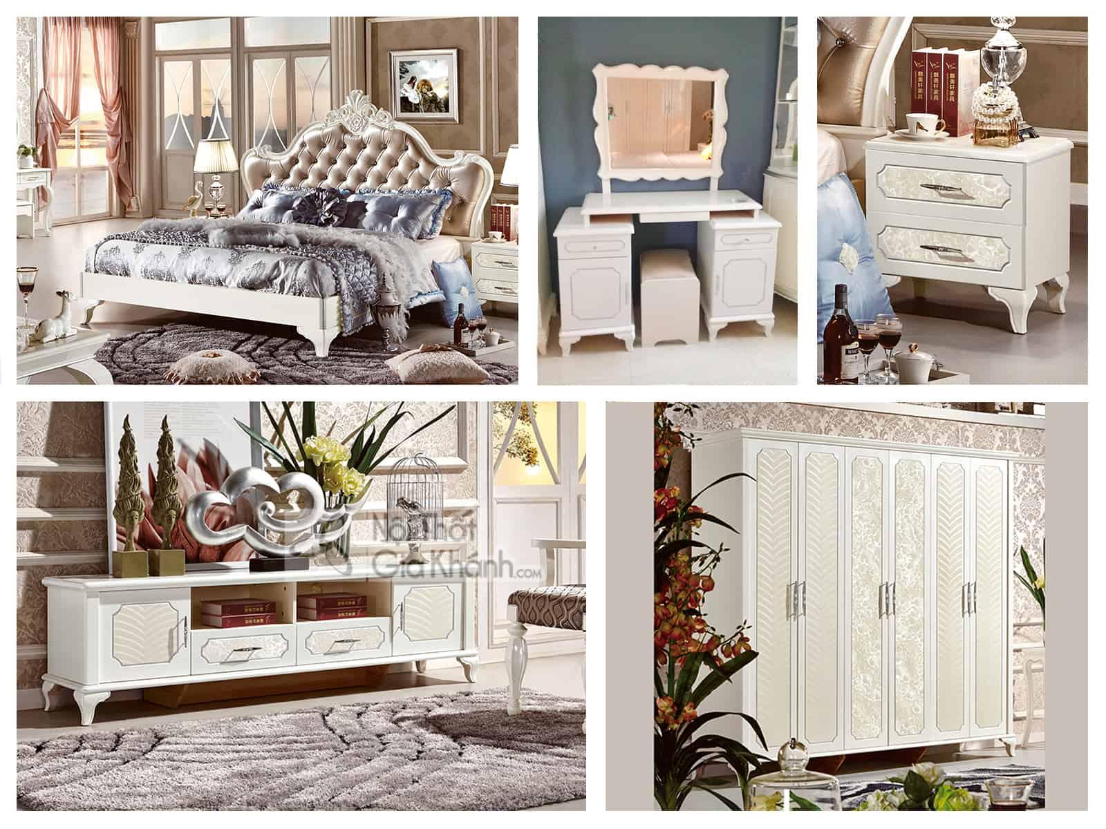 Bộ phòng ngủ phong cách tân cổ điển Pháp 13660BG-2