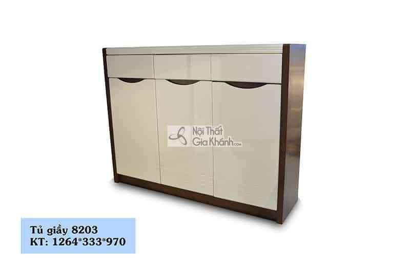 tu giay 8203 - Tủ giày 3 cánh thân gỗ nâu phong cách hiện đại 8203