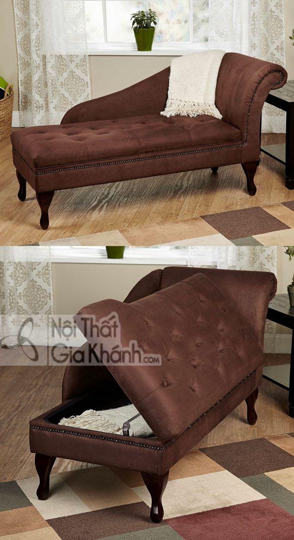 Ghế Chaise dài với ngăn chứa