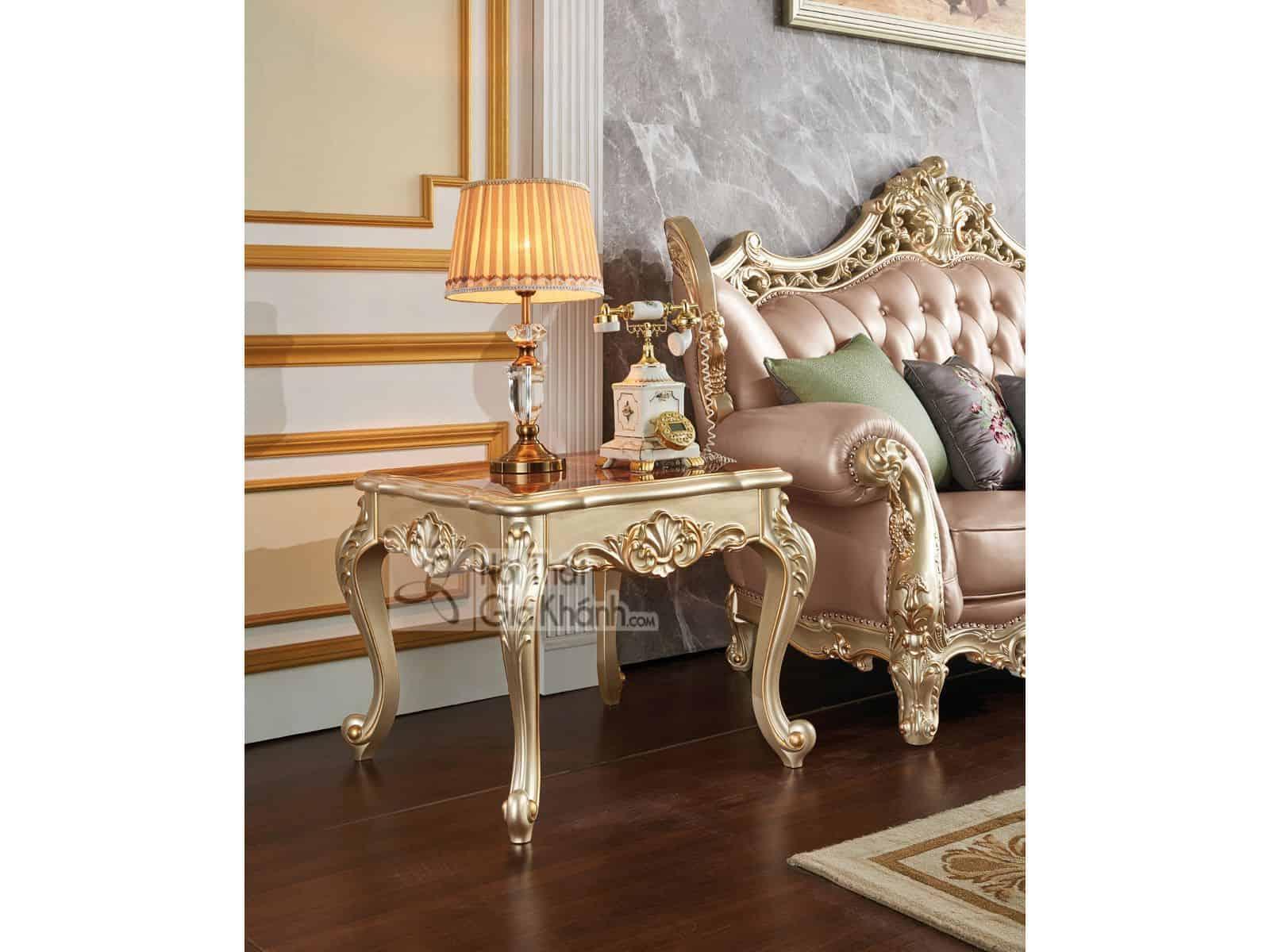 Bàn trà vuông cổ điển gỗ cho phòng khách GK8801BTV - ban tra vuong phong khach gk8801btv