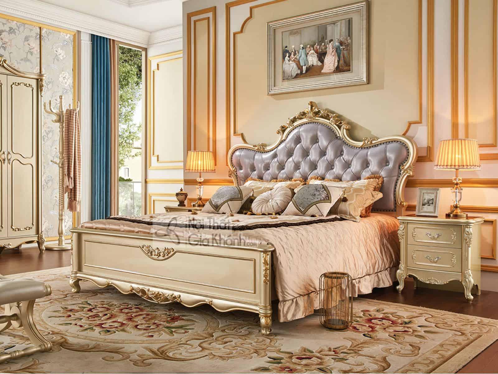 Táp gỗ đầu giường phong cách Tân cổ điển GK8802B (MẪU MỚI NHẤT 2019) - giuong ngu go soi nhap khau gk8835al 2