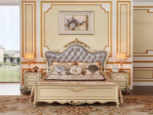 Giường Ngủ Gỗ Đẹp Nhập Khẩu Cao Cấp Gi8835A (Mẫu Mới Nhất)
