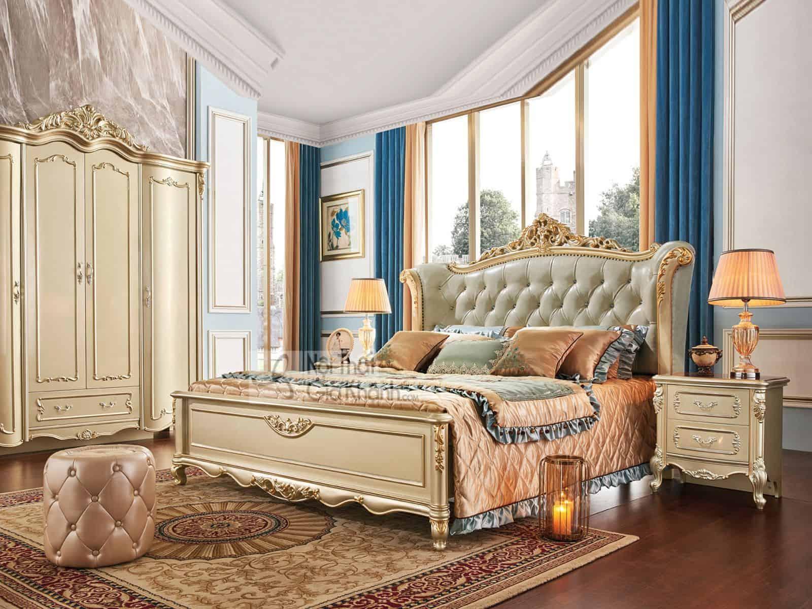 Mẫu giường đẹp phong cách tân cổ điển GI8832A (Mẫu mới nhất)