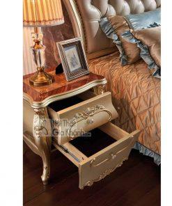 Tủ đầu giường gỗ phong cách tân cổ điển TA8803A (Mẫu mới nhất)