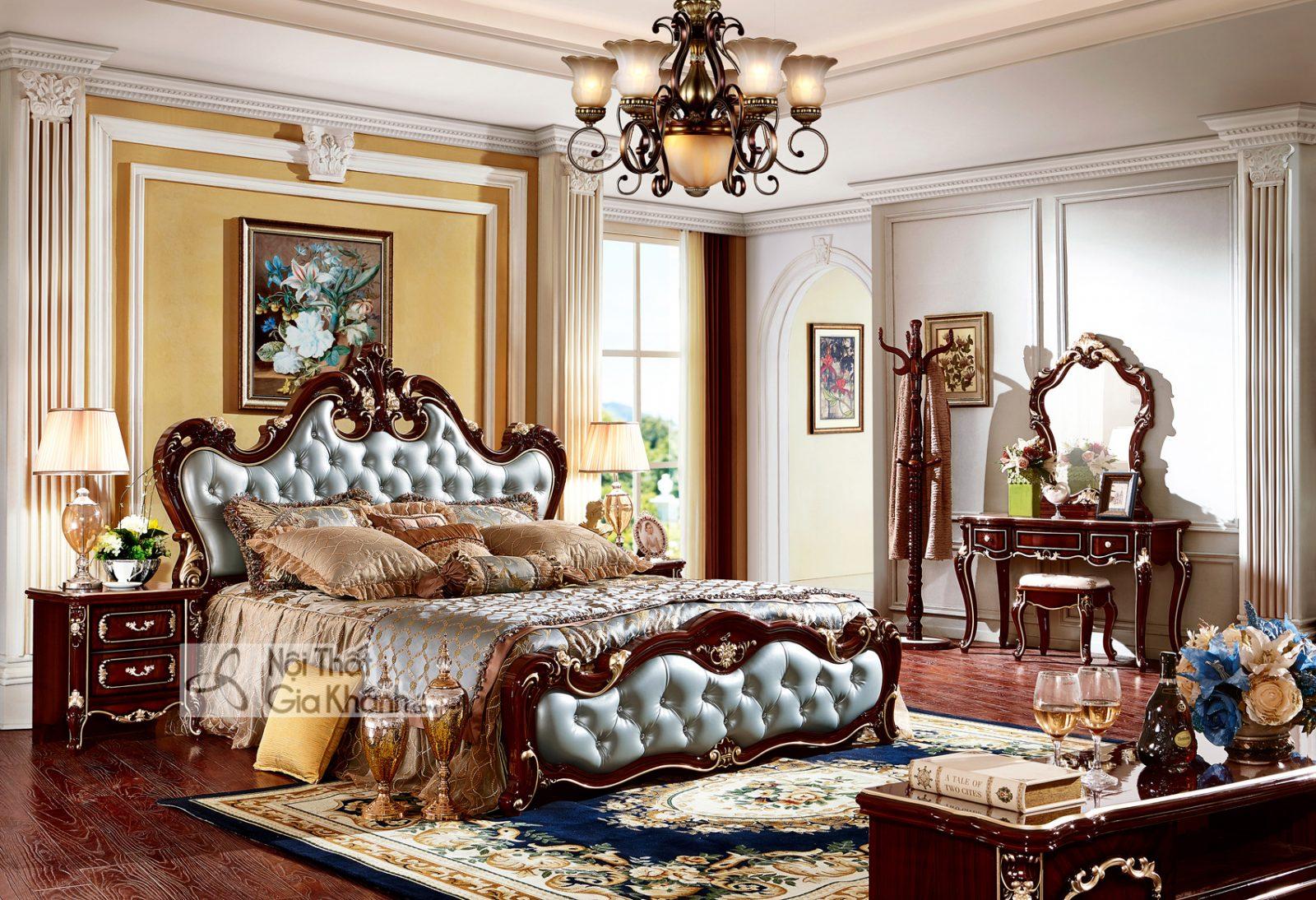Mẫu giường ngủ đẹp nhập khẩu GI8801G