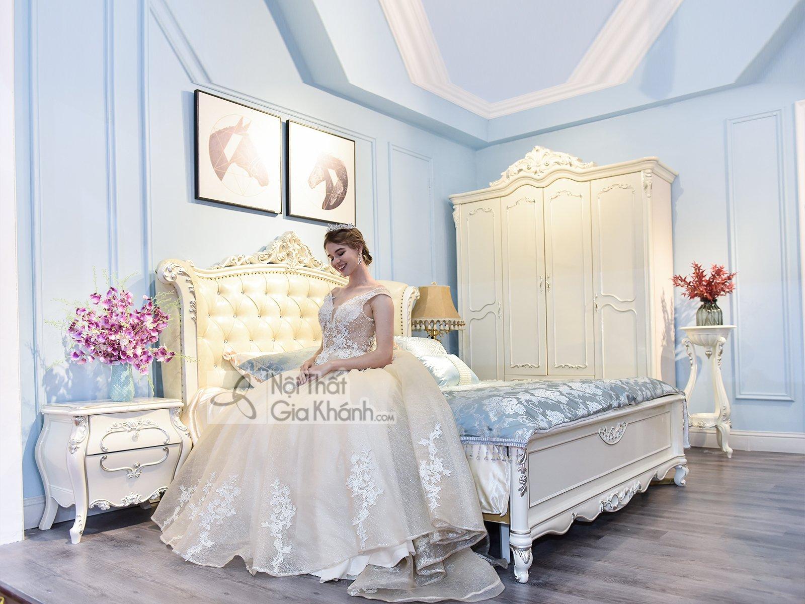 Giường Ngủ Gỗ Phong Cách Hoàng Gia Gi8832H