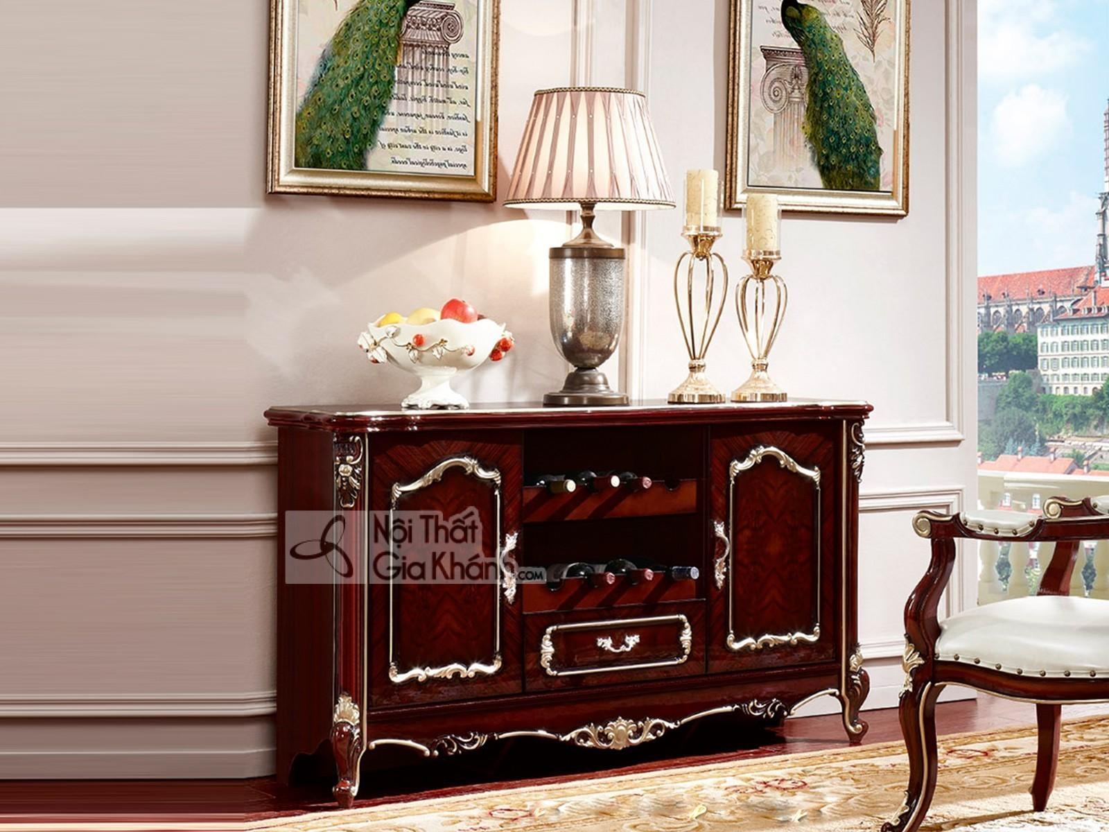 Tủ bếp mini gỗ nhập khẩu cho phòng ăn KB8801G