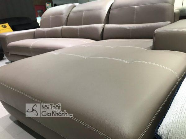 Sofa Da Góc Trái Màu Nâu 2 Băng 6757N-Sf