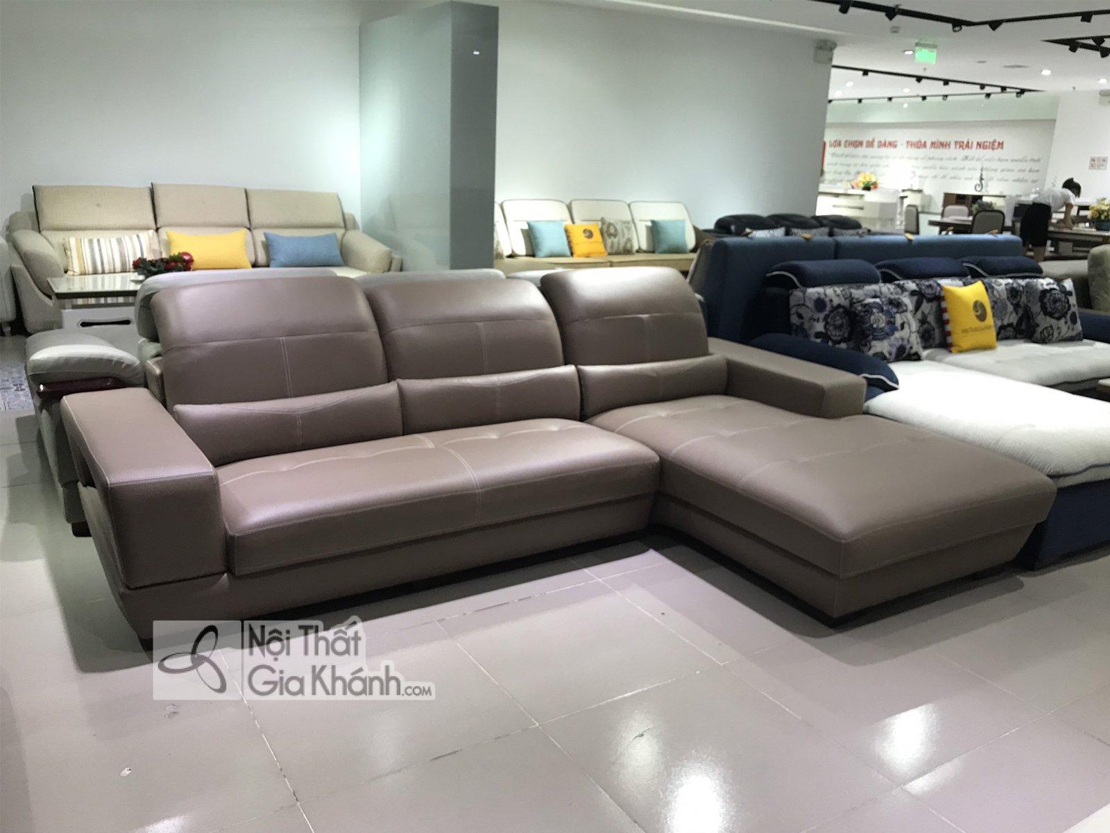 Sofa Da Mau Kem 2 Bang Goc Trai 6757K Sf 4
