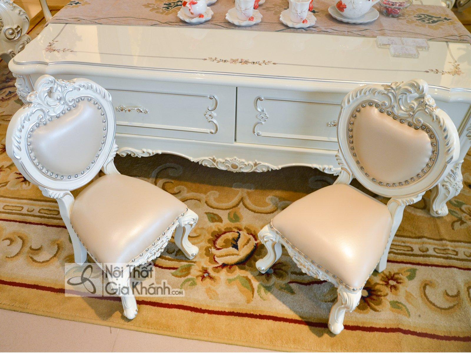 ghe nho dat cung sofa H8801G 2 - Ghế baby đặt cùng sofa tân cổ điển GB8801H