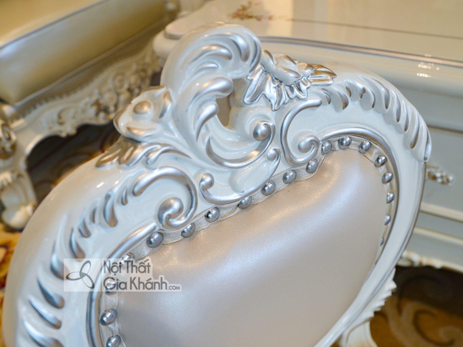 ghe nho dat cung sofa H8801G 3 - Ghế baby đặt cùng sofa tân cổ điển GB8801H