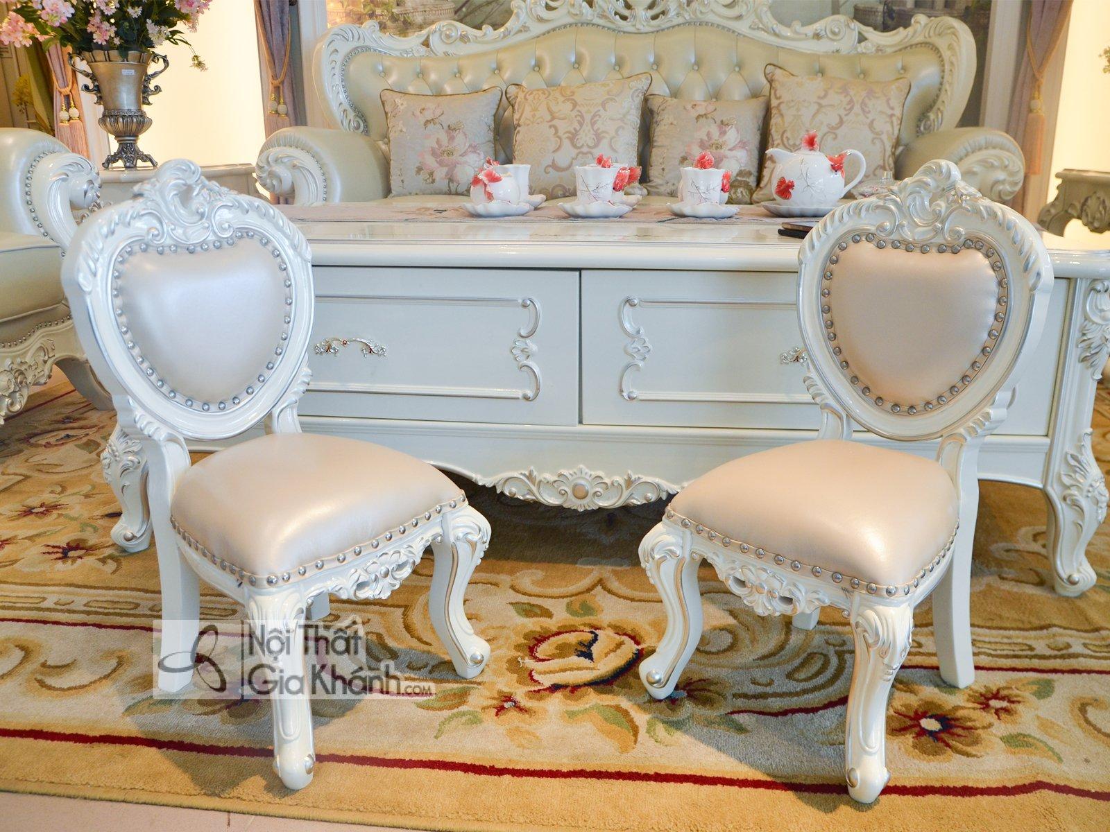 ghe nho dat cung sofa H8801G 4 - Ghế baby đặt cùng sofa tân cổ điển GB8801H