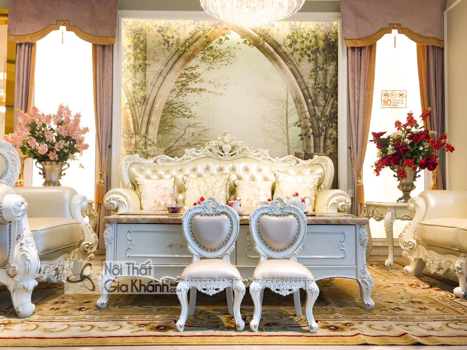 ghe nho dat cung sofa H8801G 5 - Ghế baby đặt cùng sofa tân cổ điển GB8801H