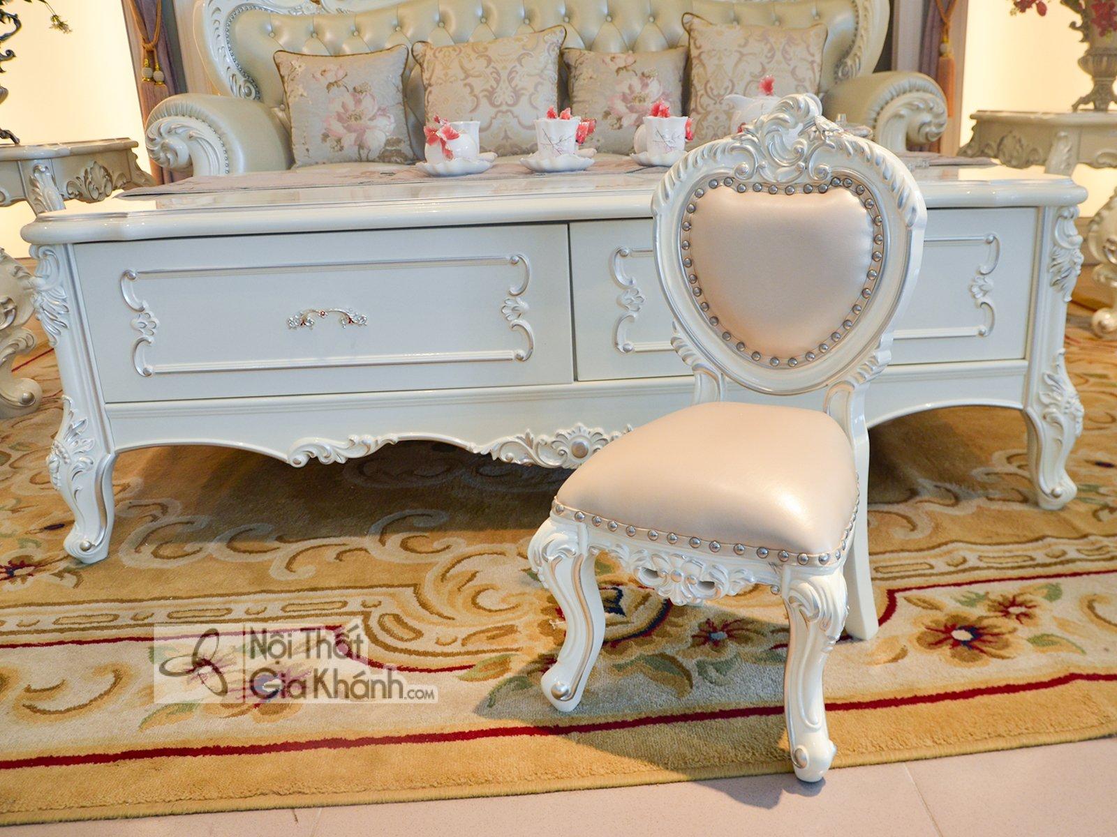 ghe nho dat cung sofa H8801G - Ghế baby đặt cùng sofa tân cổ điển GB8801H