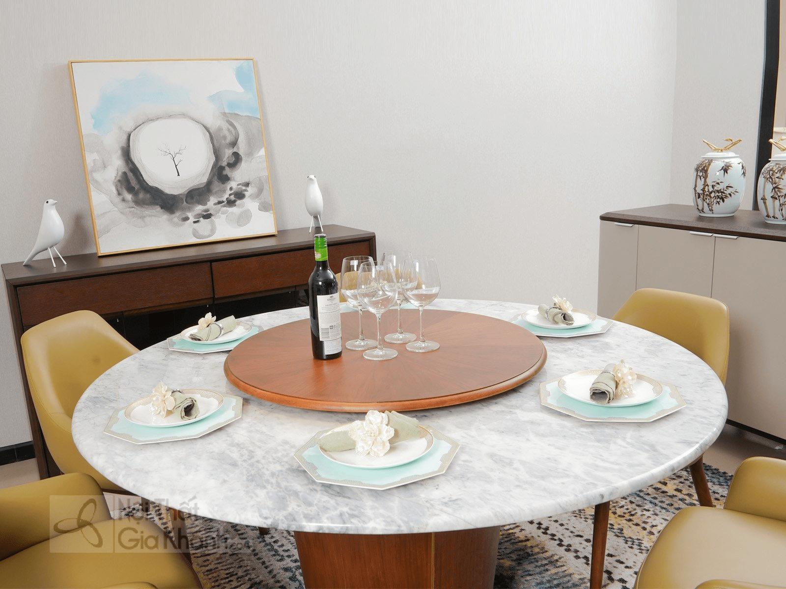 Bàn ăn tròn của thương hiệu Italy furniture
