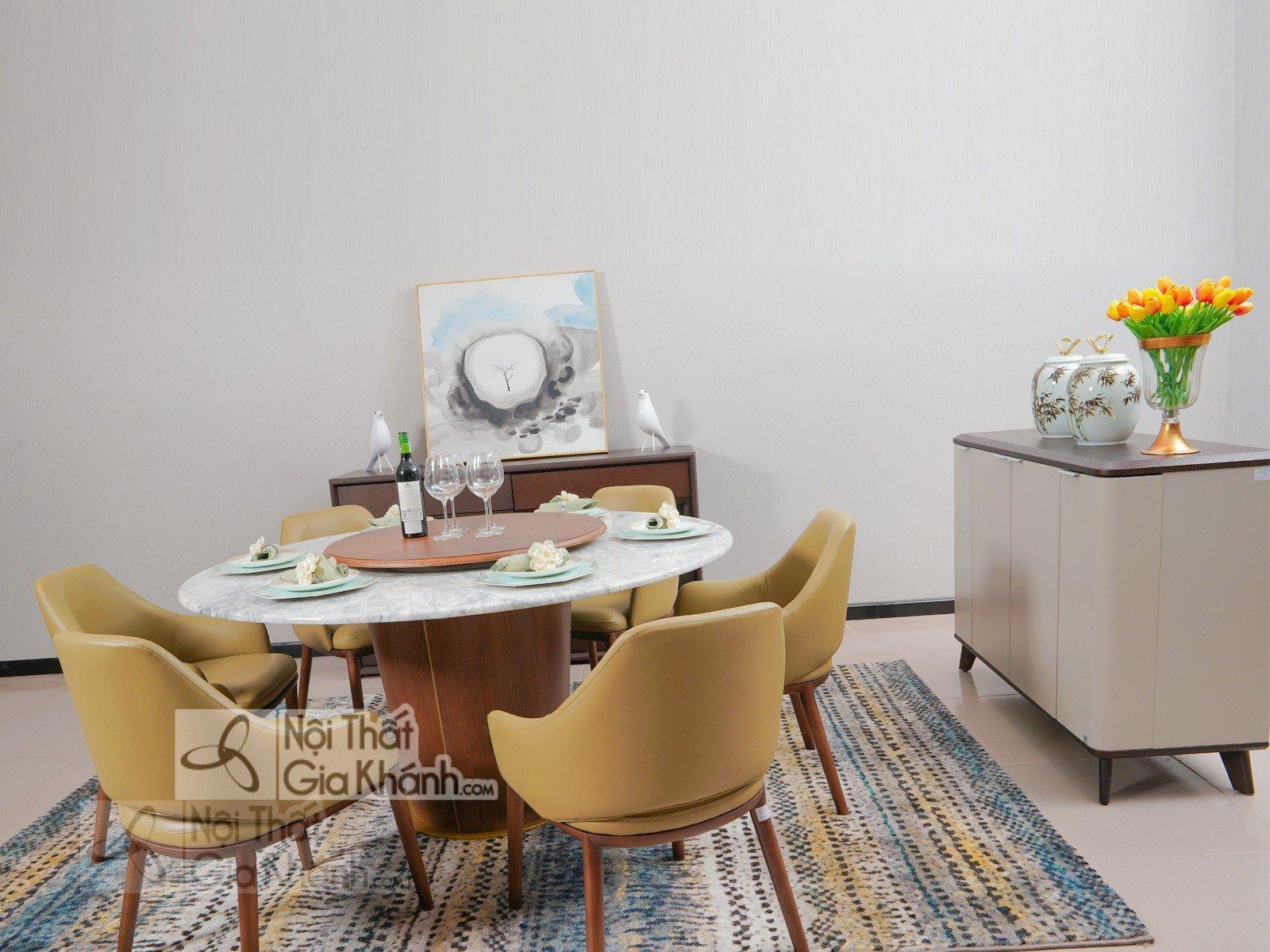 Bộ bàn ăn 6 ghế hình tròn