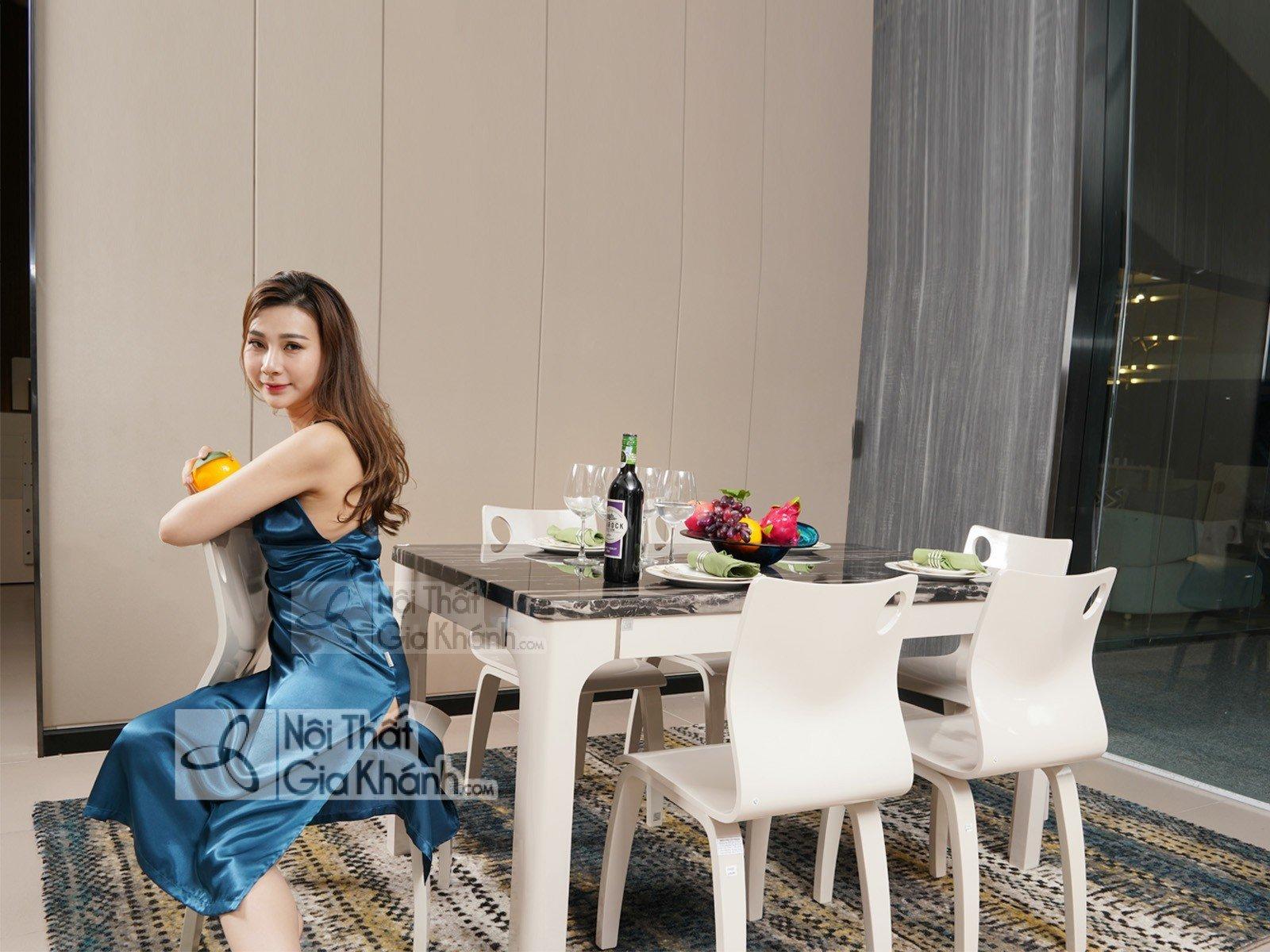 Bộ bàn ăn 6 ghế mặt kính