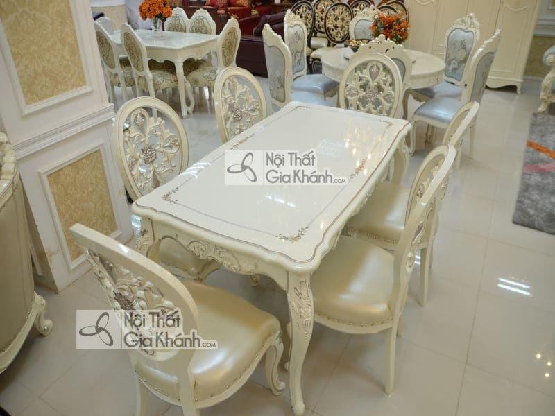 Bộ bàn ăn 8 ghế phong cách tân cổ điển