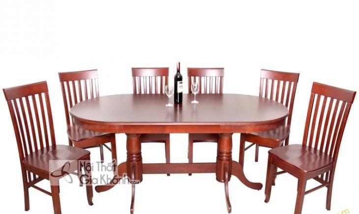 Bộ bàn ăn 8 ghế hình oval