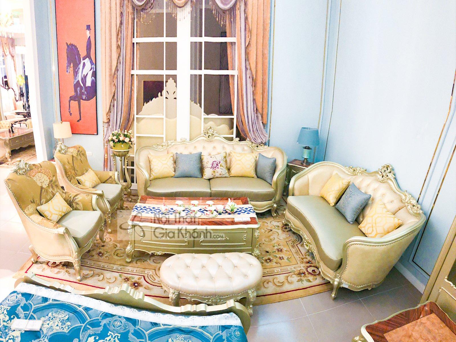 Bộ Bàn Ghế Sofa Phòng Khách Nhập Khẩu Pk A02